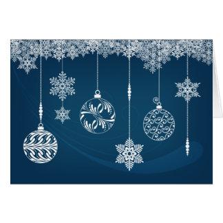Verzierungs-u. Schneeflocke-Weihnachtskarte Karte