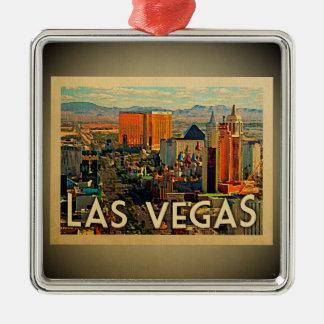 Verzierungs-Vintage Reise Las Vegas Nevada Silbernes Ornament