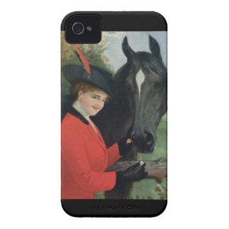 Veste rouge équestre d'équitation de cheval coque Case-Mate iPhone 4