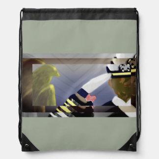 Veteranen-Geschichtsdrawstring-Tasche - kakifarbig Turnbeutel