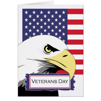 Veteranen-Tag, patriotisches Thema, Eagle und Karte