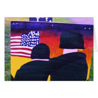 Veteranen-Tageskarte, der Komfort eines Soldaten Grußkarte
