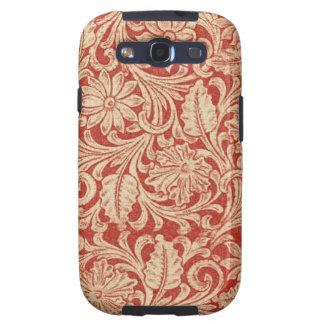 Vibe rouge floral de la galaxie S3 de Samsung de d Coques Galaxy S3