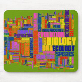Vibrierende Biologie Wordle Mäusematte Mousepad