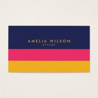 Vibrierende Farbblock-Stylist-sozial-Medien Visitenkarte