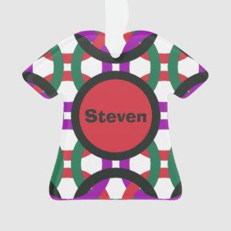 Vibrierende geometrische mehrfarbige Kreise Ornament
