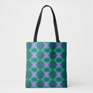 Vibrierende moderne blaue Grüntöne mit rosa Tasche