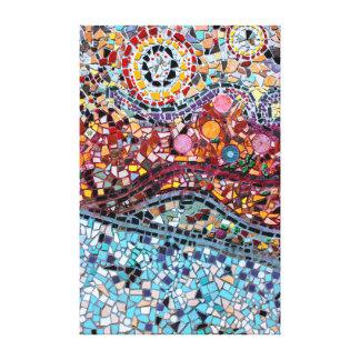 Vibrierende Mosaik-Wand-Kunst-Leinwand Leinwanddruck