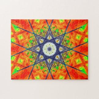 Vibrierende Stern-Mandala