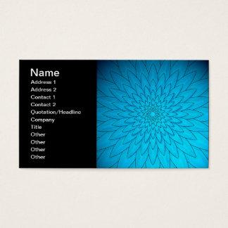 Vibrierende Türkis-Blau-Blume Visitenkarte