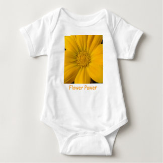 Vibrierender gelber baby strampler