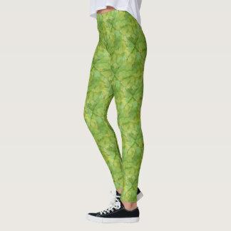 Vibrierender grüner Aquarell-Entwurf Leggings