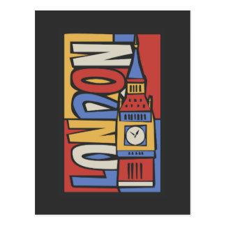 Vibrierender Handrawn Entwurf Londons, England | Postkarte