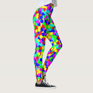 Vibrierender multi FarbeBallpit Druck Leggings