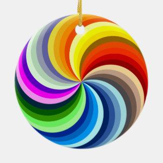 Vibrierender Wirbel Rundes Keramik Ornament