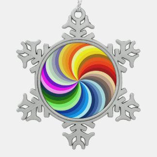 Vibrierender Wirbel Schneeflocken Zinn-Ornament