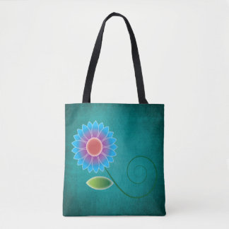Vibrierendes blaues Gänseblümchen auf aquamarinem Tasche