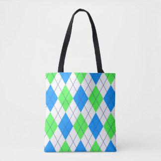 Vibrierendes FarbRautenmuster Tasche