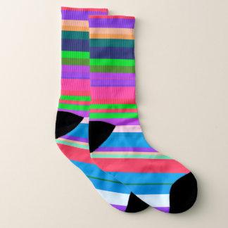 Vibrierendes Farbstreifenmuster Socken
