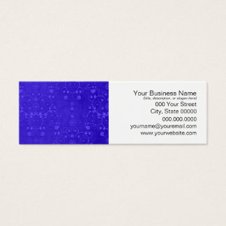 Vibrierendes Kobalt-Blau-extravagantes Mini Visitenkarte
