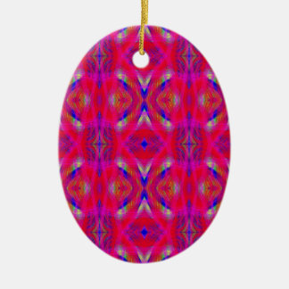 Vibrierendes NeonPink-Chic-Muster Keramik Ornament