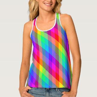 Vibrierendes Regenbogen-Prisma Tanktop