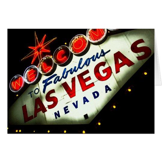 Vibrierendes Vegas-Zeichen - Karten
