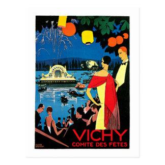 Vichy Comite DES-Partys ~ Frankreich-Reise-Kunst Postkarte