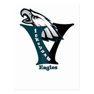 Vicksburg Eagles Fußball Postkarte