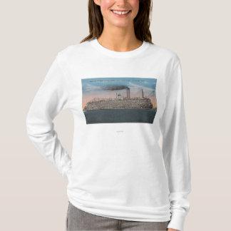 Vicksburg, Mitgliedstaat - Ansicht des Bootes mit T-Shirt
