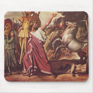 Victoire de Jean Auguste Ingres- Romulus sur Acron Tapis De Souris