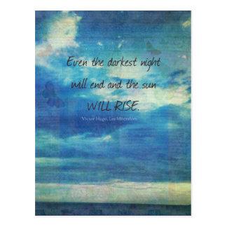 Victor Hugo, Les Miserables Zitat inspirierend Postkarte