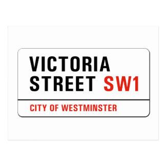 Victoria-Straße, London-Straßenschild Postkarte