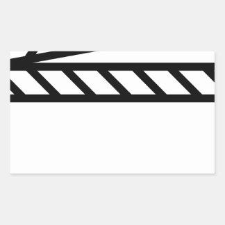 Videoschiefer Rechteckiger Aufkleber