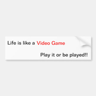 Videospiel-Leben-Lektion Autoaufkleber