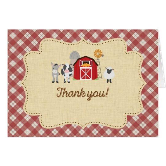 Vieh danken Ihnen zu kardieren Mitteilungskarte