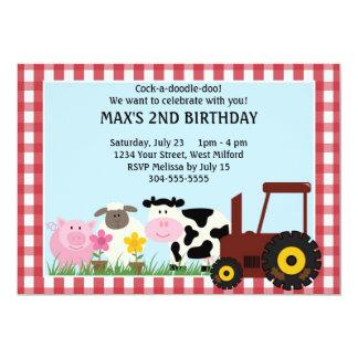 Vieh-Kindergeburtstag 12,7 X 17,8 Cm Einladungskarte