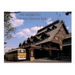 Vieille carte postale fidèle de parc national de Y