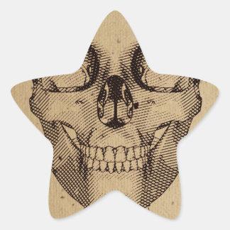 Vieille illustration de crâne stickers en étoile