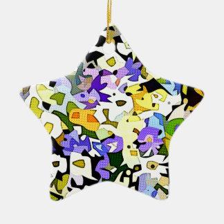 Viel Blumen Keramik Ornament