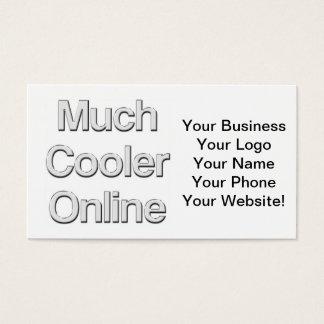 Viel cooleres on-line-Glas Visitenkarte