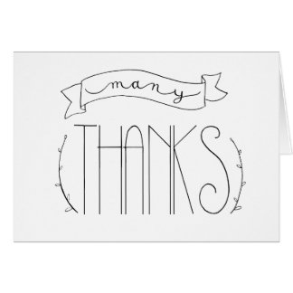Viel Dank dankt Ihnen zu kardieren Karte
