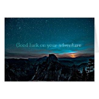 Viel Glück auf Ihrer Abenteuerkarte Karte