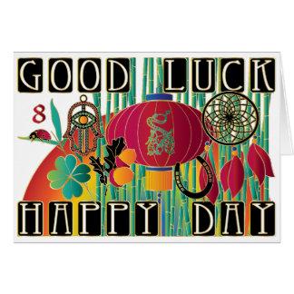 Viel Glück-glücklicher Tag Milliamperestunde Jongg Karte