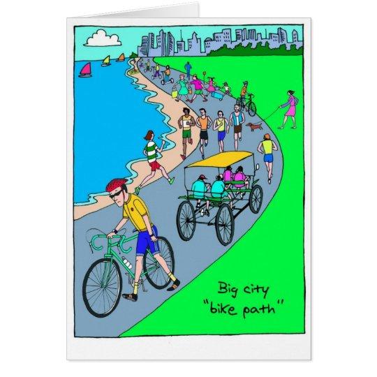 Viel Glück-Karte für Radfahrer - großer Grußkarte
