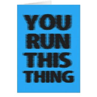 Viel Glück-Marathon-Läufer Karte