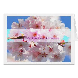 Viel Glück zum Geburtstag Karte