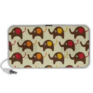 Viel Glückelefanten kawaii niedlicher Natur-Muster Laptop Speaker