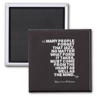Viele Leute vergessen… - MLWilliams Quadratischer Magnet