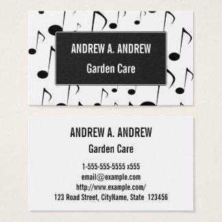 Viele musikalischen Anmerkungs-Muster-Visitenkarte Visitenkarte
